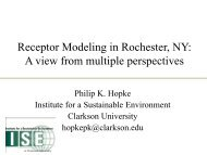 Receptor Modeling in Rochester, NY: A view from multiple ...