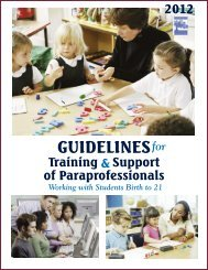 Connecticut Paraprofessionals Guide to Common Core State ...