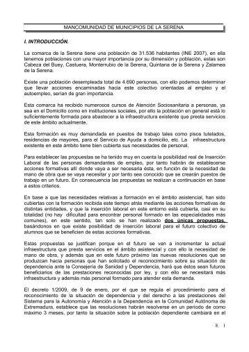 MANCOMUNIDAD DE MUNICIPIOS DE LA SERENA I ...