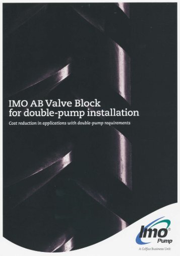IMO AB Valve Block for double-pump installation - hydraulics-care.com