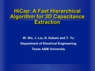 HiCap: A Fast Hierarchical Algorithm for 3D Capacitance Extraction ...