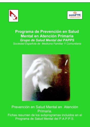 Prevención en Salud Mental en Atención Primaria - papps