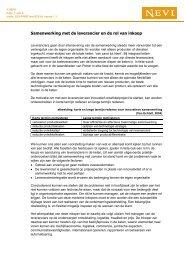 Samenwerking met de leverancier en de rol van inkoop - Nevi