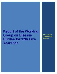 Report of the Working Group on Disease Burden for 12th Five Year ...