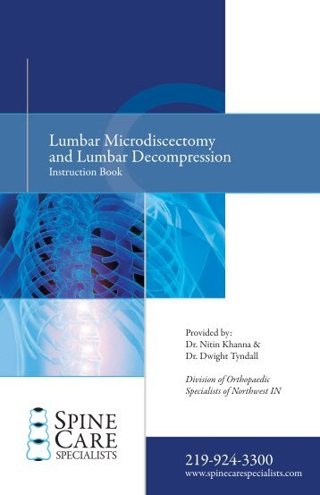 Lumbar Microdiscectomy and Lumbar Decompression - Spine Care ...