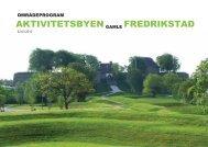 Områdeprogram for Aktivitetsbyen Gamle Fredrikstad