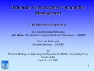 Indonesia Contraceptive Commodity Management - Partners in ...