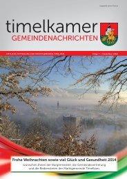 Timelkamer Gemeindenachrichten DEZ. 2013.indd - Marktgemeinde ...