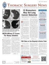 May 2012 PDF - Thoracic Surgery News