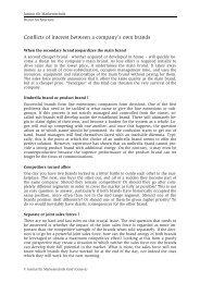 Brand Architecture - Institut für Markentechnik Genf