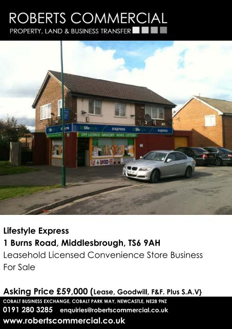 Lifestyle Express 1 Burns Road, Middlesbrough, TS6 9AH ...