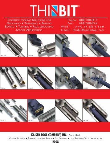 Kaiser ToolThin Bit Catalog.pdf - JW Donchin CO.