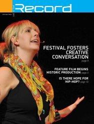 Festival Fosters creative conversation - RECORD.net.au