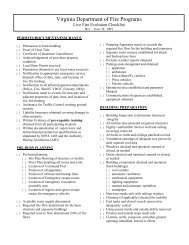 1403 Burn Building Checklist - Virginia Department of Fire Programs