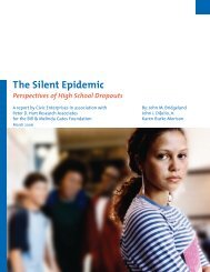 The Silent Epidemic - ERIC - U.S. Department of Education