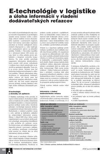 E-technológie v logistike - ATP Journal