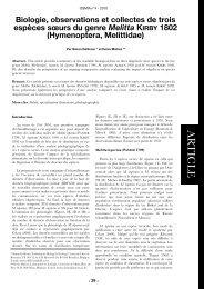 OSMIA 4 - Laboratoire de Zoologie