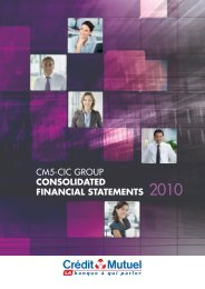 cm5-cic group consolidated financial statements 2010 - Banque ...