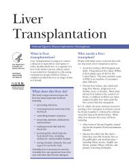 Liver Transplantation - National Digestive Diseases Information ...