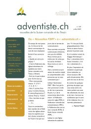 129 - Juillet 2009 - Fédération des Eglises Adventistes du 7e jour de ...