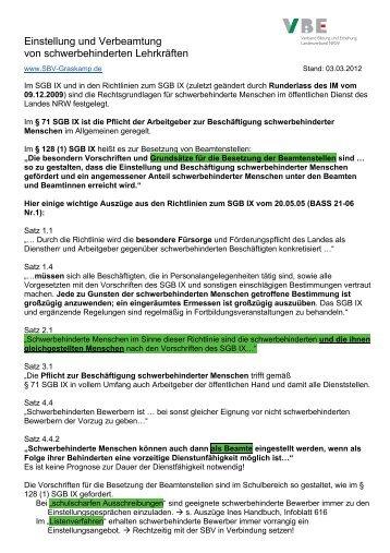 Arbeitgeber Verletzt Mitbestimmungsrecht Nach 99 BetrVG Einstellung Und Verbeamtung Von Schwerbehinderten Lehrkrften
