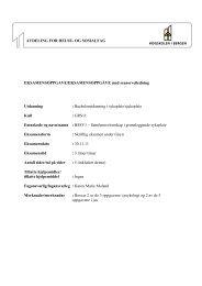 Sykepleie Sensorveiledning BSSV1 ... - For studenter