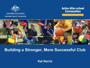Building a Stronger, More Successful Club