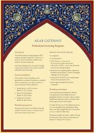 Professional Learning Program - Arab Gateways