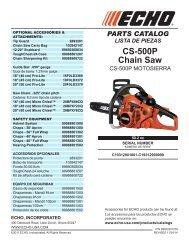 CS-500P Chain Saw