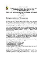 ii convocatoria 2011 - Universidad de Chile