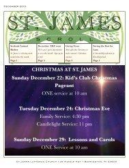 December - St James Lutheran Church