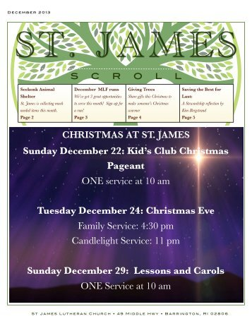 December - St James Lutheran Church