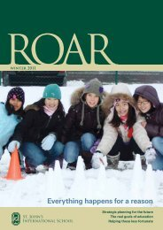 Winter 2011 - St. John's International School