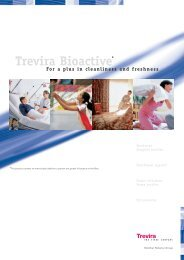 Trevira Bioactive* For a plus in cleanliness and ... - Trevira GmbH
