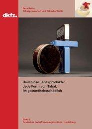Rauchlose Tabakprodukte - German Cancer Research Center