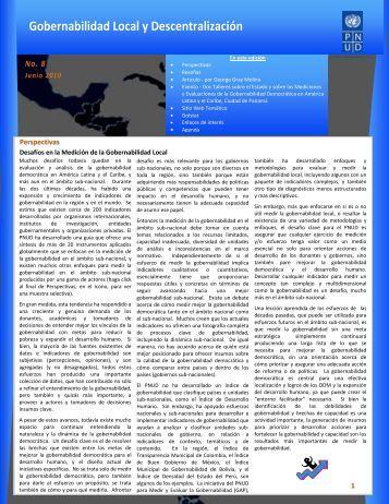 Número 8 - Junio 2010 - Regionalcentrelac-undp.org