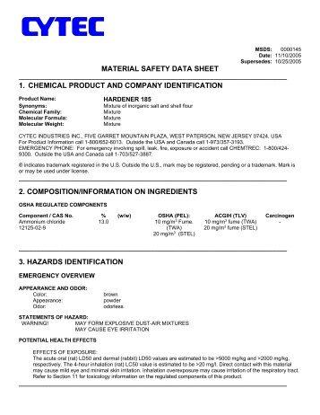 URAC 185 Hardener - Highland Woodworking