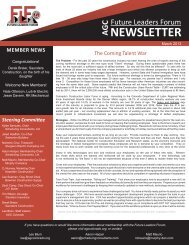 March - Association of General Contractors