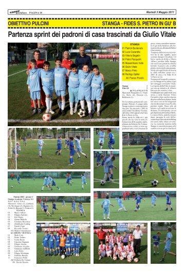 27 aprile 2011 - STANGA - FIDES - SPORTquotidiano