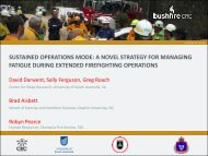 sustained operations mode - Bushfire Cooperative Research Centre