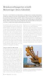 Brückenvorbaugerüst erstellt Betonträger übers Gleisfeld - Strabag AG