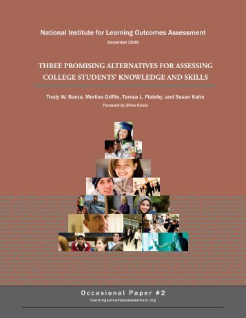 Three Promising Alternatives for Assessing College - National ...