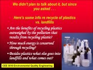 Plastics - Civil & Environmental Engineering