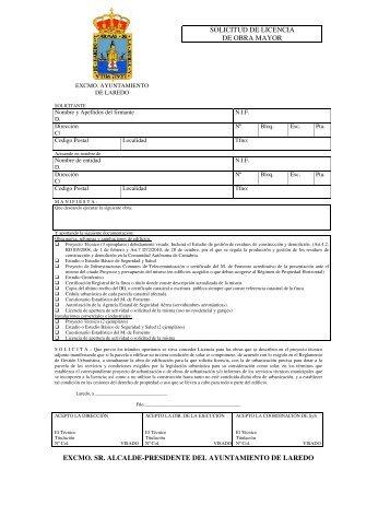 solicitud de licencia de obra mayor excmo. sr. alcalde-presidente ...