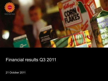 Financial results Q3 2011 - Stora Enso