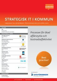 STRATEGISK IT I KOMMUN OMMUN - Conductive