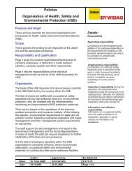 Policies Organisation of Health, Safety and Environmental - Strabag
