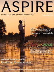 Health & Fitness Guide - Aspire Magazine