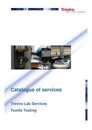Catalogue Textile testing-final 2012-13 - Trevira