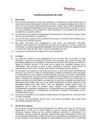 Conditions générales de vente 1. Généralités 1.1 ... - Trevira GmbH